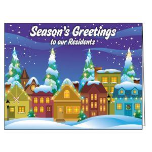 Holiday Card - Snowy Night