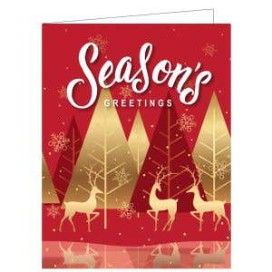 Holiday Card - Red Forest