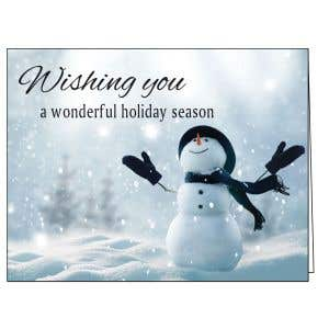 Holiday Card - Merry Snowman