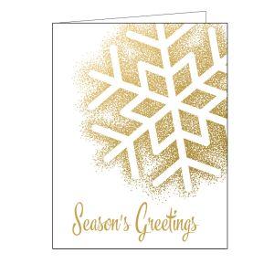 Holiday Card - Gold Snowflake