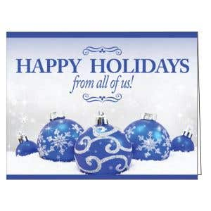 Holiday Card - Frosty Ornaments