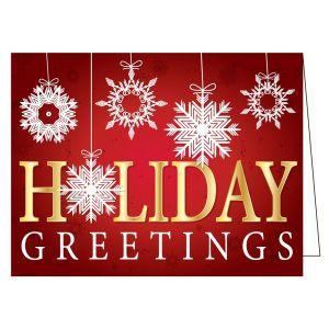 Holiday Card - Hanging Snowflakes