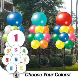 Pick Your Colors - JUMBO 9 Balloon Cluster
