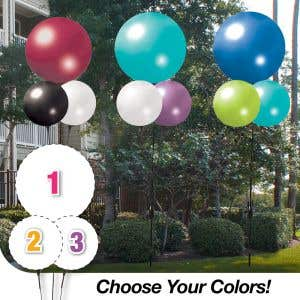 Pick Your Colors - JUMBO 3 Balloon Cluster