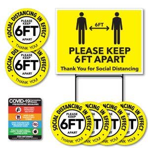 Social Distancing Signage Kit