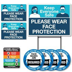 Face Mask Signage Kit