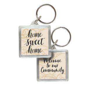 Acrylic Key Tag - Home Sweet Home