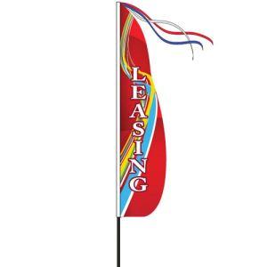 Wind Streamer Flag Kits - Red Swirl