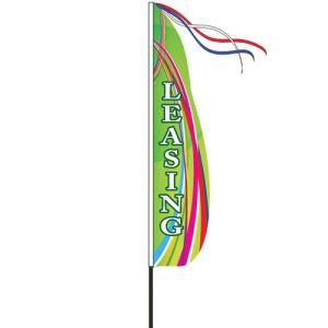 Wind Streamer Flag Kits - Green Swirl