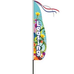 Wind Streamer Flag Kits - Blue Decorative