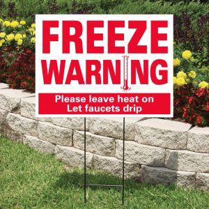 """Bandit Sign Kit - """"Freeze Warning"""" Red on White"""