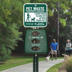 Plastic Pet Waste Stations with Lock