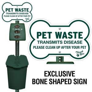 Plastic Paw Pal Station - Dog Bone Sign