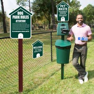 Add to a fenced off area and have an instant dog park!