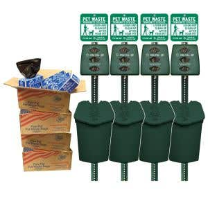 Bundle and SAVE - 4 Plastic Stations PLUS 10,000 bags!