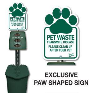 Plastic Paw Pal Station - Paw Print Sign - No Fine
