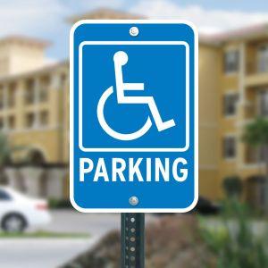 Handicap Parking Aluminum Sign Kit