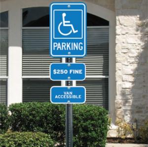 Handicap Parking Sign Kits - Deluxe