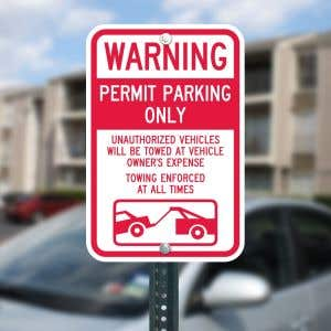 """Permit Parking Sign Kit - """"Permit Parking Only"""""""