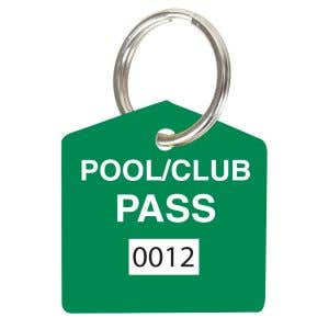 Pool Pass Kit - Green - House Shape