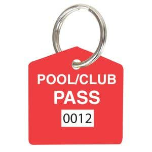 Pool Pass Kit - Red - House Shape