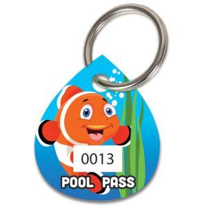 Pool Pass Kit - Orange Fish - Water Drop
