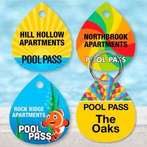 Custom Pool Pass - Tear Drop - Name Only