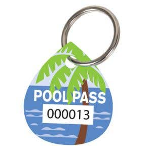 Pool Pass Kit - Palm Tree - Water Drop