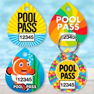 Custom Pool Pass - Tear Drop - Number Only