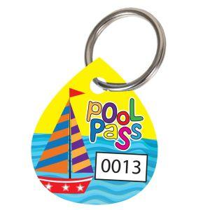 Pool Pass Kit - Sailboat Waves - Water Drop