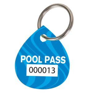 Pool Pass Kit - Blue Swirls - Water Drop