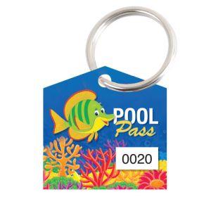 Pool Pass Kit - Green Fish - House Shape
