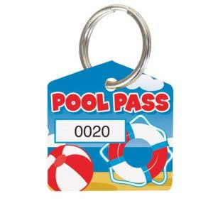 Pool Pass Kit - Beach Ball and Life Ring - House Shape