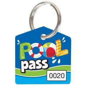 Pool Pass Kit - Pool Vibes - House Shape