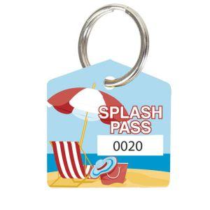 Splash Pass Kit - Fun on the Beach - House Shape