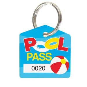 Pool Pass Kit - Beach Ball Fun - House Shape