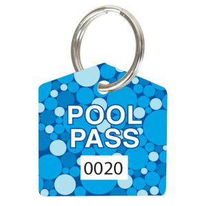 Pool Pass Kit - Blue Dots - House Shape