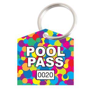 Pool Pass Kit - Colorful Dots - House Shape