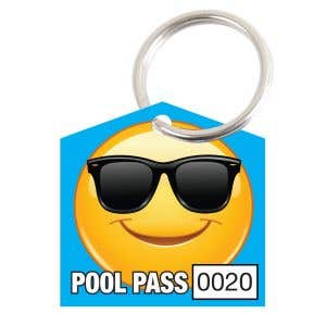 Pool Pass Kit - Smiley Face - House Shape
