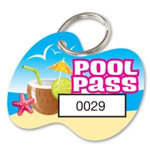 Pool Pass Kit - Hawaiian Coconut - Die Cut