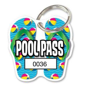 Pool Pass Kit - Beach Ball Flip Flops - Die Cut