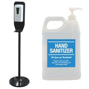 Sanitizer Kit - Standing Dispenser with Hand Sanitizer