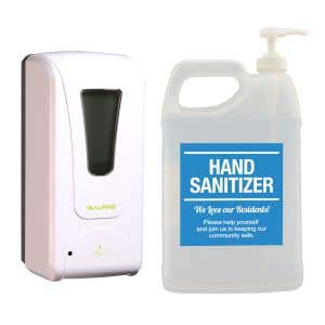 Sanitizer Kit - Wall Dispenser with Hand Sanitizer