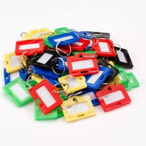 Horizontal Key Tags - 50 pack assorted