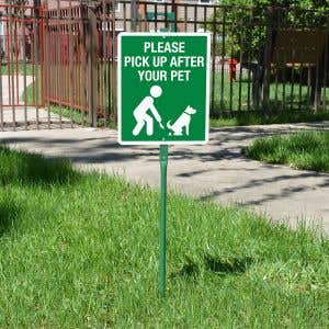 Yard Sign 3' Kit - Please pick up after your pet
