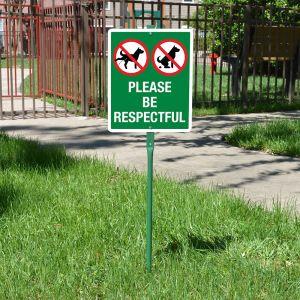Yard Sign 3' Kit - Please be Respectful