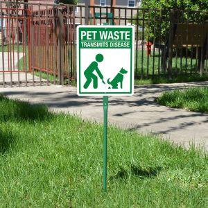 Yard Sign 3' Kit - Pet Waste Transmits Disease