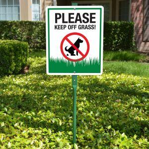 Yard Sign 3' Kit - Please Keep Off Grass