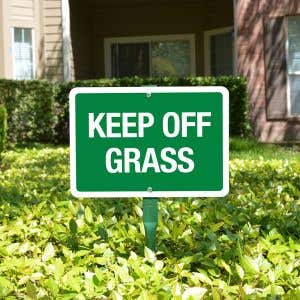 "Yard Sign 18"" Kit - Keep Off Grass"