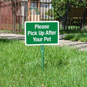"""Yard Sign 18"""" Kit - Please Pick Up and Your Pet"""